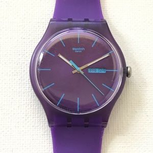 Swatch Purple Rebel New Gents Day/Date Watch